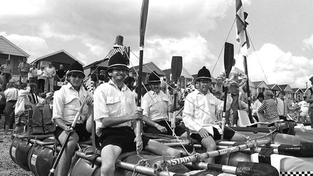 Southwold Raft Race in September 1986 Picture: ARCHANT