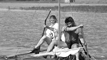 Eyke Raft Race in September 1986 Picture: ARCHANT