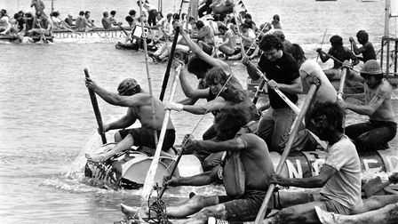 Harwich raft race in July 1979 Picture: ARCHANT