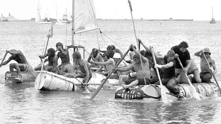 Did you take part in this raft race at Harwich in July 1979? Picture: ARCHANT