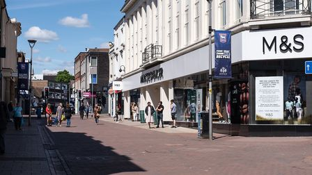 Ipswich town centre has been very quiet during the lockdown. How can it win back the shoppers? Pictu