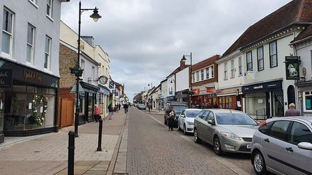 North Street in Sudbury pictured during the coronavirus lockdown before the non-essential shops are