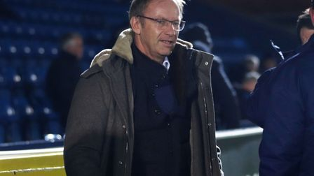Ipswich Town owner Marcus Evans pictured before Town's 0-0 draw at AFC Wimbledon Photo: ROSS HALLS