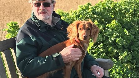 Dave bought a cocker spaniel puppy named Mia to keep him fit and healthy with countrside walks durin
