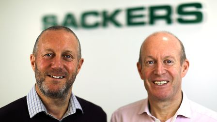 L/R: Adrian and David Dodds, are brothers and joint managing directors at Sackers Waste Recycling Ce