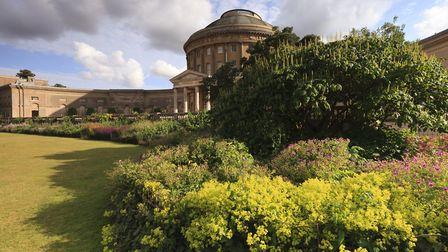The Rotunda at Ickworth House. Ickworth Park has now reopened although the house is still closed Pic