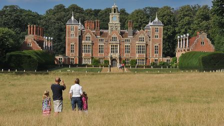 Walks around the Blickling Estate and car parking still have to be booked even though the house rema