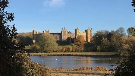 Blue skies over Framlingham Castle It is hoped that English Heritage sites will open laterrthis summ