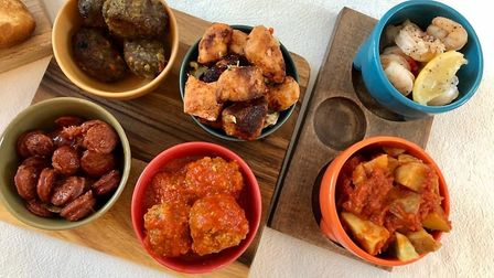 Mark and Liz's tapas dishes from Casa - cracking food all round!