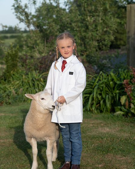 Seven year old Matilda Whitehead and her Lleyn lamb would have have been taking part in the young ha