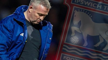 Paul Lambert's Ipswich Town would finish seventh under a points-per-game plan. Picture: STEVE WALLER