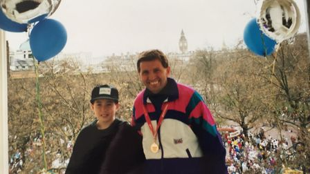 Wayne completed the London Marathon in 1994 running for Great Ormand St Children's Hospital. Picture