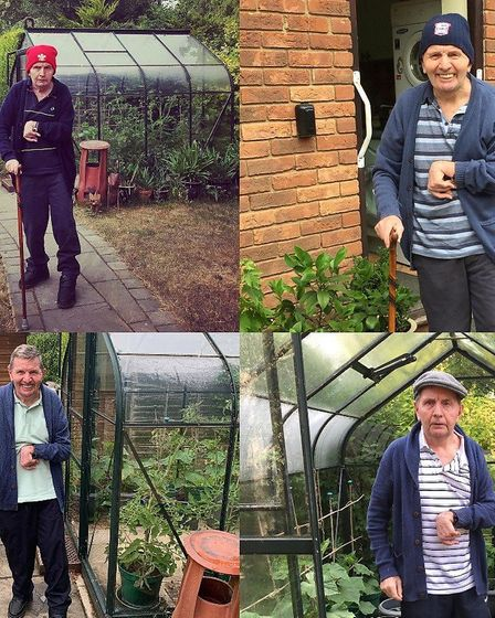 Wayne Chivers is walking to his greenhouse every day, twice a day, to walk 5K for Headway Essex duri