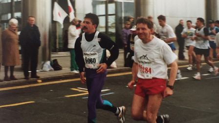 Wayne ran at events across the country and took on four London Marathons. Picture: CHIVERS FAMILY
