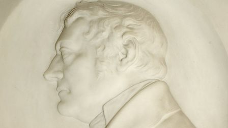 A bas-relief of Thomas Clarkson inside Playford Church Picture: DENISE BRADLEY
