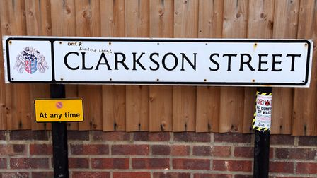 Clarkson Street is named after the abolitionist Thomas Clarkson Picture: SIMON PARKER