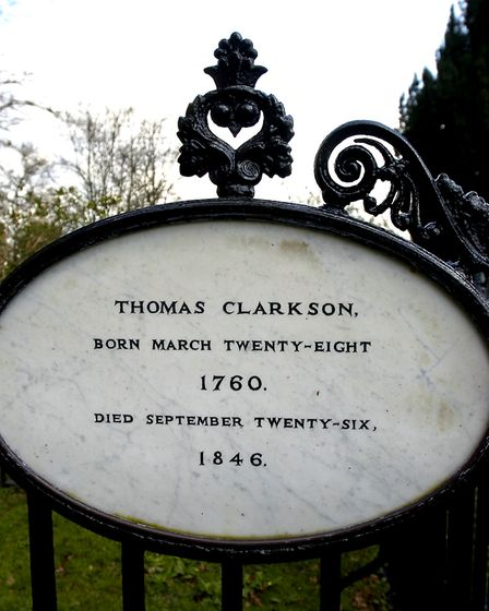 Thomas Clarkson remembered in Playford Church Picture: Lucy Taylor