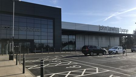 John Lewis in Ipswich is also reopening on Thursday Picture: CHARLOTTE BOND