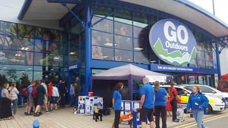 The GO Outdoors store at Anglia Retail Park in Ipswich - long before social distancing was thought o