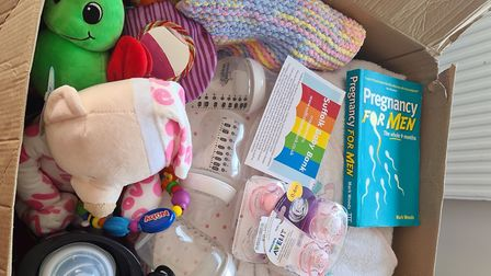 Klaire makes bundles for parents who are struggling to feed, clothe or care for their baby. Picture: