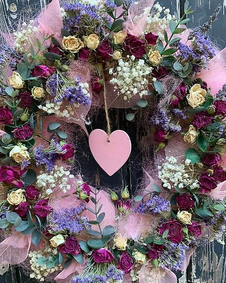A beautiful rustic wreath from Victoria Floristry Picture: Victoria Orves Marshall