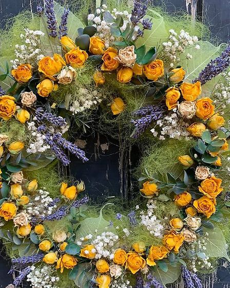 One of the many rustic wreaths available from Victoria Floristry Picture: Victoria Orves Marshall