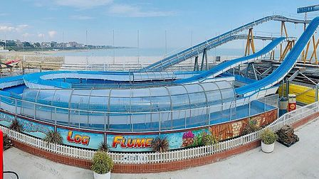 The new log flume coming to Clacton Pier is hoping to open to its first customers once lockdown is l