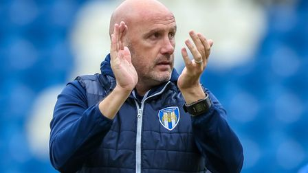 John McGreal's Colchester United will face Exeter City in the League Two play-offs next week Picture