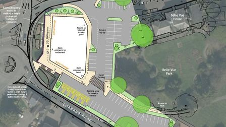 The plan for the proposed hotel and restaurant in Sudbury. Picture: BABERGH DISTRICT COUNCIL