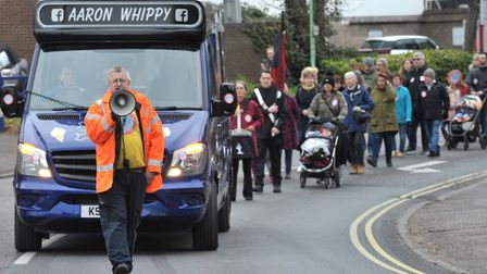 A protest was held in Sudbury in 2019 protesting against the Belle Vue Park plans. Picture: SARAH LU