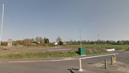 The site off Willie Snaith Road in Newmarket, eyed for Costa and McDonald's drive-thru units. Pictur