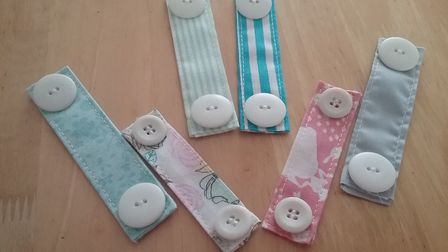 Wendy, 67, who lives in Great Yarmouth, has been preparing button buckles for face masks too. Pictur