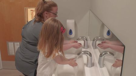 As part of safety measures at Busy Bees nurseries there is frequent handwashing and disinfecting of