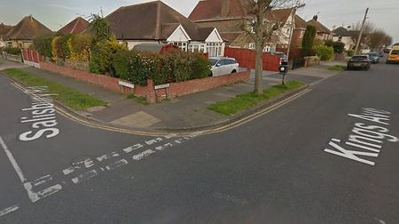 The collision happened at the junction of Kings Avenue and Salisbury Road Picture: GOOGLE MAPS