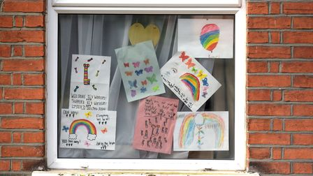 Messages of hope and support in people's windows Picture: SARAH LUCY BROWN