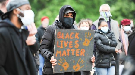 The Black Lives Matter protest in Christchurch Park, Ipswich was peaceful and protesters showed sign