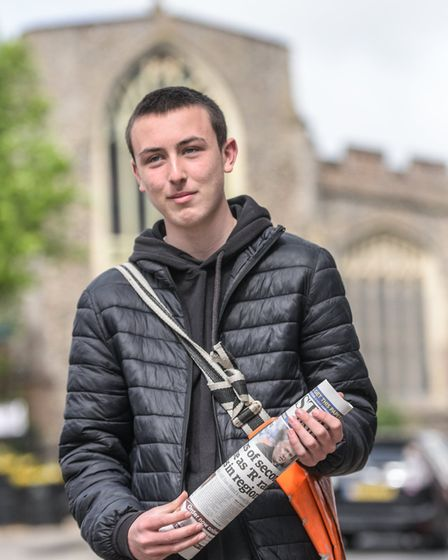 Paperboy Max Kemp helped to save a woman's life when he saw that her newspaper had not moved from he