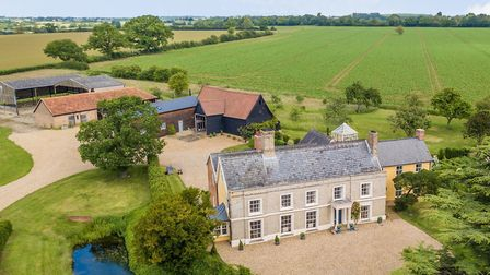 Preston Manor in Preston St Mary is on the market for £2,350,000. Picture: JIM TANFIELD