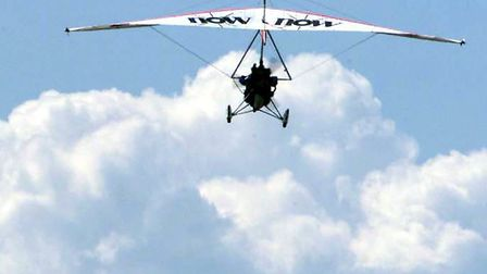 A microlight pilot crashed his aircraft at Mendlesham Airfield after it's strut came apart mid-air,