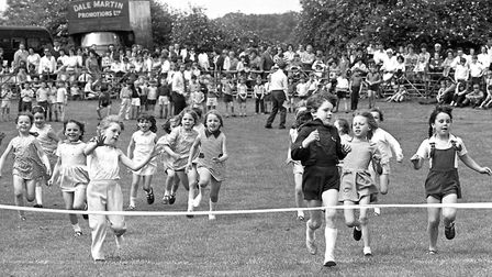 Do you know any of these children racing at Framlingham Gala in June 1971? Picture: ARCHANT