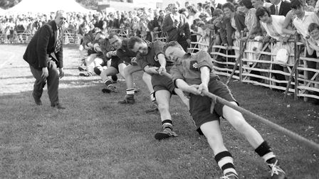 Framlingham Gala in May 1964 - the tug of war was one of the highlights of the afternoon Picture: A