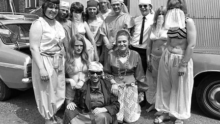 Colourful fancy dress characters at the Framlingham Gala in June 1971 Picture: ARCHANT
