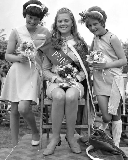 Framlingham Gala Princess with her attendants in June 1968 Picture: ARCHANT