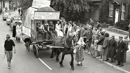 he Framlingham and District Young Farmers Club float at the Framlingham Gala in May 1967 Picture: AR