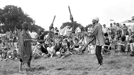 Were you at the Rainbow Fair held at East Bergholt in August 1981? Picture: ARCHANT