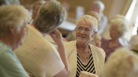 Age UK Suffolk's Big Chinwag, as pictured here last year, becomes a ZoomWag for 2020 due to the coro
