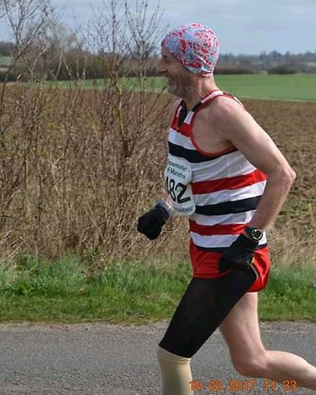 Stephen Williams in action for the Saint Edmund Pacers