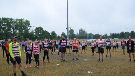 A socially distanced run was undertaken on Thursday morning from the Sports Centre in Bury St Edmund