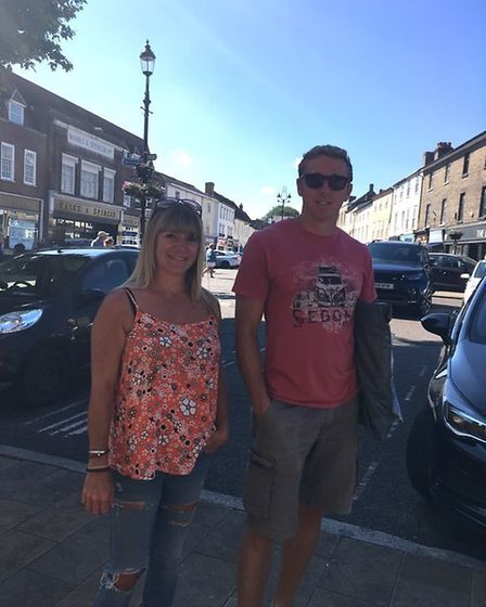 Emergency medical technician Abi Holden was in the queue for Sports Direct as she wanted to buy birt