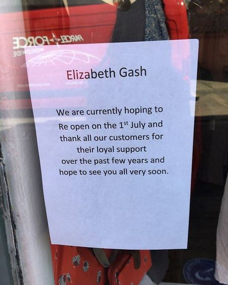 Not all non-essential shops were open today. Some had signs to say they would be opening at a later